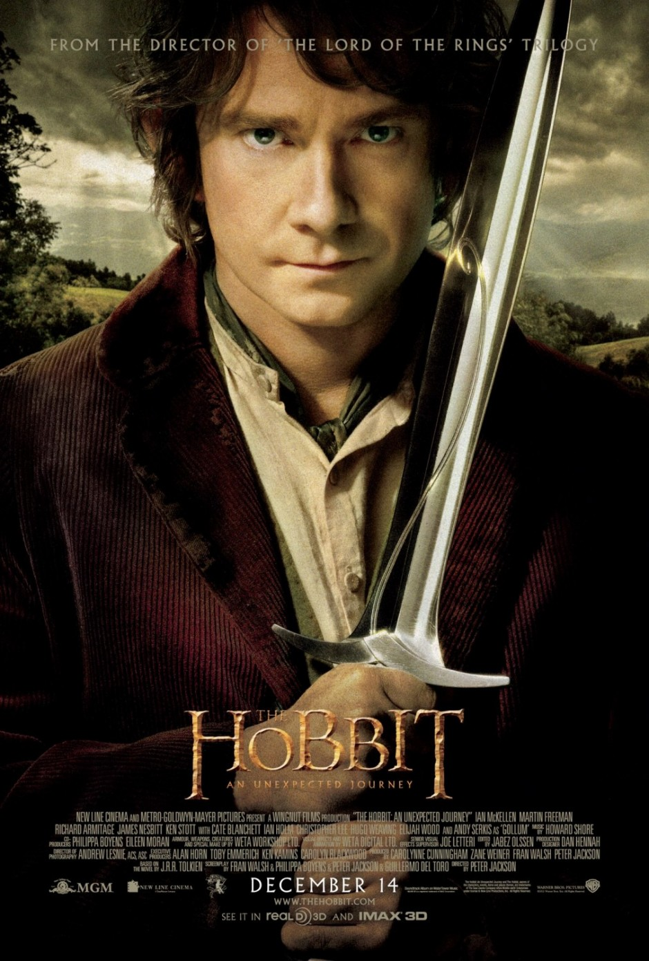 The Hobbit by J.R.R. Tolkien with Bilbo Baggins