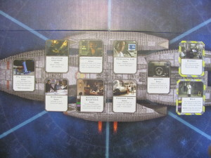 Battkestar Galactica game board